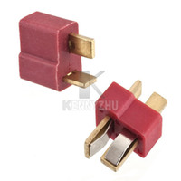 Wholesale 1 Pair Female Male Heavy Current T Plug Golden Dean Connector For RC ESC Lipo Battery Model Helicopter Airplane