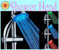 Wholesale RGB Temperature Sensor Shower Head Color Temp Automatic Control LED Shower Spray No Power Bathroom typeA14