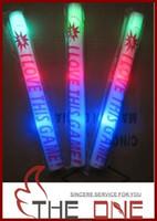 Bâton de mousse tiges conduits LED coloré clignotant bâton mousse légère acclamations lueur mousse bâton mousse conduit jouets parti jouets MOQ: 1000pcs + 40pcs cadeau EMS