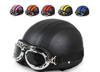 Wholesale CLASSIC Motorcycle helmet Hot Goggles Half Face Motorbike Racing open face summer Helmet colors D