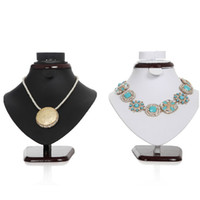 Wholesale Paint Wood PU Leather Jewelry Display Necklace Display Stand Jewelry Set