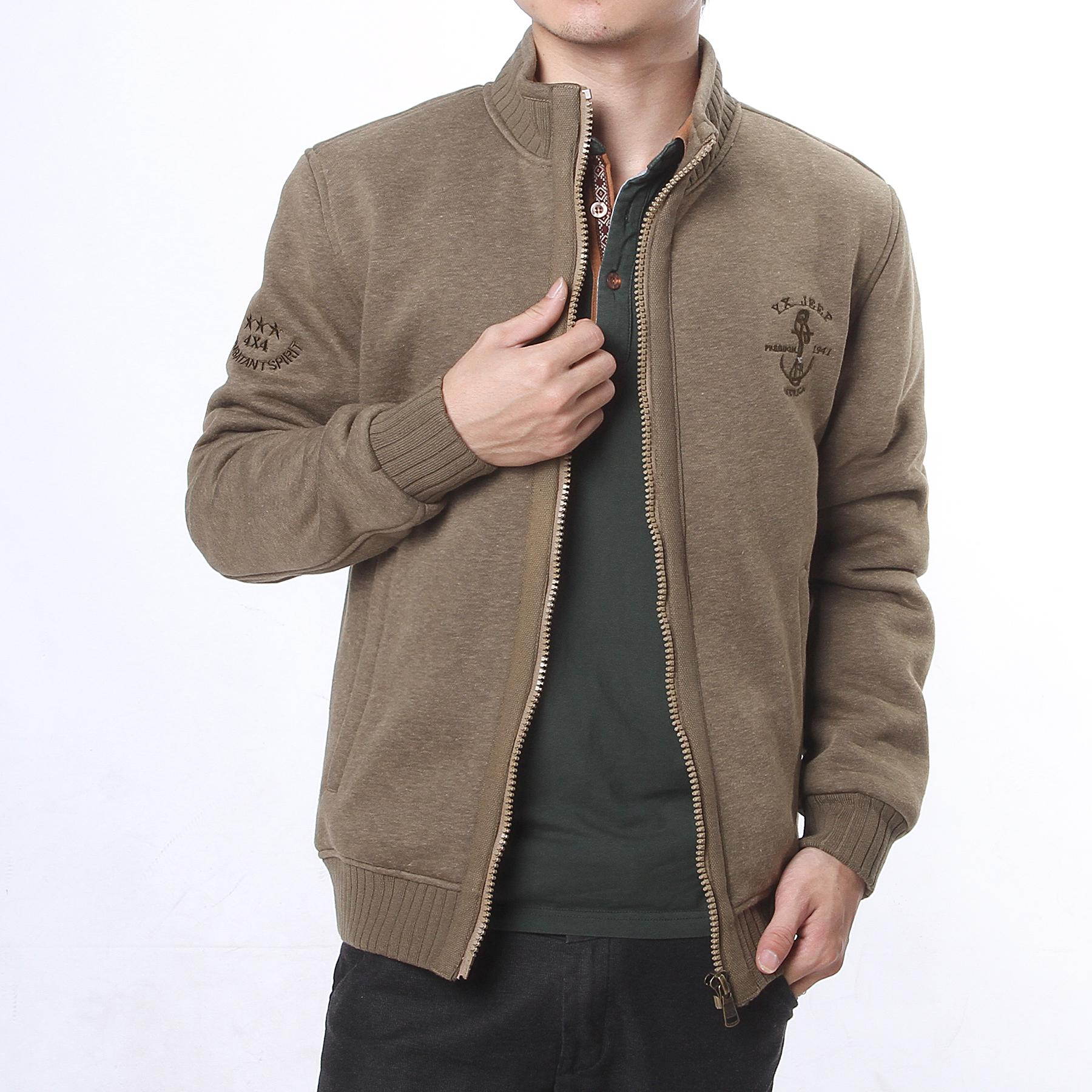 Mens jacket casual - Mens Jackets Cool Long Sleeves Mens Jackets Casual Mens Coats Khaki Mens Outwear With Trendy Zipper
