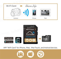 Wholesale Wireless sharing Extended Sharing GB GB SD Card Micro Card J like Wireless Lan WiFi Card Class10 For Camera Ipad Cellphone