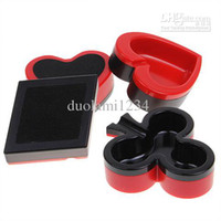 Wholesale Cigarette Ashtray Set Spade Heart Diamond and Club Fashionable Gift for Household Red with Black