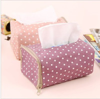 Wholesale Tissue Boxes New Dot polka boxes towel paper towel box tissue boxes Fashion tissue boxes