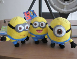 Wholesale 3d eyes despicable me inch yellow god steal milk dad stereo glasses version of soybean Stewart Dave and Jorge plush doll style