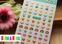 Wholesale NEW D cute animal series deco PVC sticker mobile sticker Decoration label
