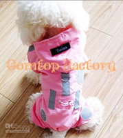 Wholesale Fedex Pet Dog Rain Coat Hoodie Raincoat Clothes Apparel Red Pink Size XS S M L