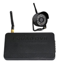 Wholesale Digital Wireless DVR Kit with weatherproof night vision camera Support G SD card Motion Detection recording