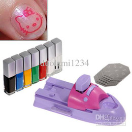 Wholesale GCOCL Nail Art Print Colors Stamp Polish DIY Machine