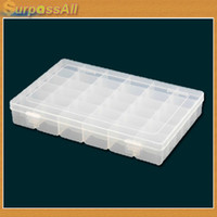 Plastic Sundries Folding (Free Shipping CPAM) 36 Grid Clear Acrylic Adjustable Pills Jewelry Bead Organizer Box Storage Container Case H-005