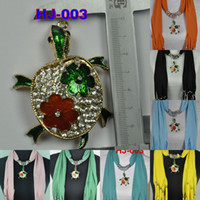 Wholesale Scarf jewelry scarves necklace pendant scarf turtle pendant melange ladies fashion new scarf china post FREE