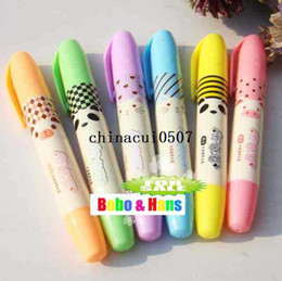 Wholesale New cute animals designs fluorescent pen Color Highlighter marker pack