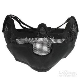 Wholesale Spartan Mesh TMC Half Face Mask Black