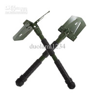 Wholesale New Folding Camp Tool Survival Shovel Spade with Compass