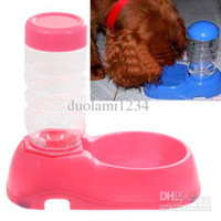 Automatic Feeders & Waterers Plastic Indoor Multi-function Automatic Water Dispenser for Pets -Pink