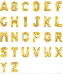 Wholesale 100pcs Giant Alphabet Letter Gold A Z Helium Mylar Balloon quot Party Decorations Auto Sealing Foil Balloon