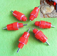 Wholesale 20pcs Water Nipples Drinker Poultry Chicken Duck Coop Feeder Screw In Degree