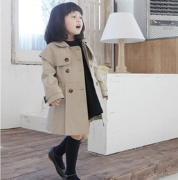 Wholesale 2013 Children s Tench Coat of Girls Autumn Clothing Kids Outwear Overcoat Long Coat Casual Coat Autumn Tops