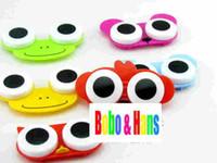 Wholesale new cute cartoon animals eyes contact lenses box amp case lens Companion box