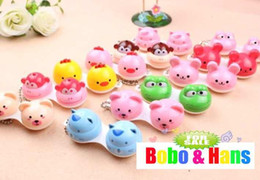 Wholesale new cute cartoon animals styles contact lenses case amp box lens Companion box