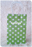 Paper Hand Length Handle Yes Size 21x13x8cm Green Kraft Gift Paper Bags With Handle 10pcs lot Free Shipping