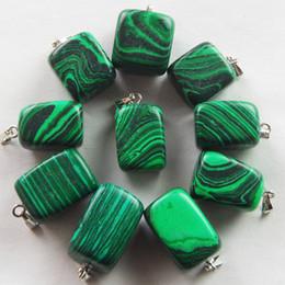 Wholesale R0014849 Malachite tumble Pendant Bead