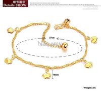 Wholesale OPK JEWELLERY k gold anklet Hot Fashion Body Jewelry Anklet for retailer Adjus