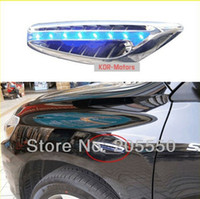 for hyundai hyundai parts - 2pcs LED Side Turn Signal Side Emblems Decoration Parts For Hyundai Tucson IX35