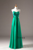 Cheap 2013 New Arrival Elegant A-Line Chiffon Pleated Long Bridemaid Dresses Evening Gown with Sweetheart Neckline