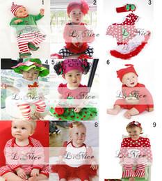tissu pour bébés ensembles filles vêtements pour bébés 2pc tutu robe jeu bandeau New Noël en gros 9designs filles de vêtements choisissent gratuitement, 1-8T, 5sets / lot à partir de nouvelles robes de filles de noël fabricateur