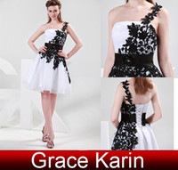 Wholesale 2013 New Arrival Grace Karin Stock One shoulder knee length Wedding Ball Evening Prom Party Dress Size US CL4288