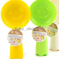 Wholesale Dorpshopping X Smile Face Plastic Nonstick Stand Rice Paddle Scoop Spoon Ladle Meal spoon H A