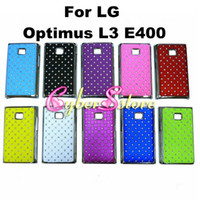 Wholesale Luxury Bling Starry Sky Crystal Diamond Hard Chrome electroplate Case Cover For LG Optimus L3 E400