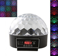 Wholesale Digital LED RGB Crystal Magic Ball Effect Light DMX Disco online DJ Stage Light Lighting W remote control