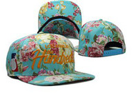 Cotton the hundreds snapback - Blue flower the hundreds snapback caps Adjustable hats Snapback caps baseball basketball mitchell amp ness Snapback Hats sports teams caps hats