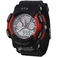 Chronograph Analog-Digital Rubber 4 ots AUDI multifunctional sports table waterproof sheet dual display student table electronic watch mens watch