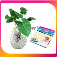 Wholesale Frees shipping amp Packs seven color crystal ball multifunction artificial crystal soil water beads for flower planting