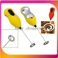 Wholesale Mini Electric Egg Beaters Stainless Steel Handle Drink Coffee Milk Frother Mixer Stirrer Foamer Whisk