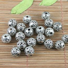 20pcs Tibetan silver tone round hollow spacer beads H5131