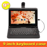 "Keyboard Case 9 inch tablet pc 9 inch tablet pc US Stock free shipping Universal 9 Inch Leather Keyboard Case Cover For 9"" Tablet PC MID"