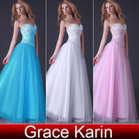 Wholesale New Strapless Corset Bodice Sheer Evening Dress Ball Gown Evening Tulle Satin CL3519