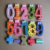 Wholesale Creative Wooden Fridge Magnet Sticker Refrigerator Magnet Number Operation Symbol