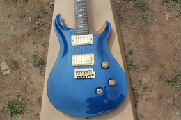 Wholesale New electric guitar custom maple veneer perfect arc blue single roll