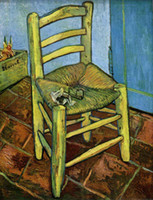 One Panel art van chairs - Decorative painting Vincent Van Gogh oil painting reproduction Canvas Art Chairs museum Quality Hand painted