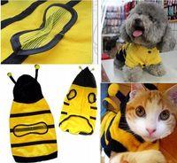 Fall/Winter bee doggie - 6pcs Cute Pet Dog Cat Bumble Bee Dress Up Costume Apparel Doggie Hoodies Coat Clothes L162