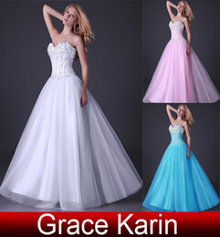 Wholesale Sexy Dresses Corsets - Grace Karin New Fashion Pink Princess Dress Ball Gown Corset-style Party Gown Prom Dresses 8 Size CL3519