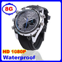 8G   8GB HD 1080P Spy Watch DVR Camera IR Night Version 1920*1080 Waterproof Hidden Watch Camera