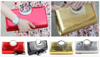 Wholesale 2pcs new fashion color Russian diamond solid color Banquet PU Women Evening Bag Lady handbag Purse Wallet Bag