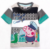 Round Neck Boy Summer 2013 New Style Baby boys t-shirts summer lovely cotton embroider short sleeves fashion shirts children clothes wholesale 5pcs lot